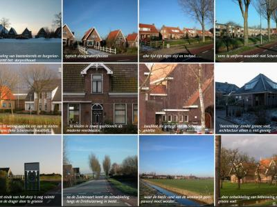 Voorbeelden van geslaagde en minder geslaagde bebouwing in het Beeldkwaliteitsplan Zuidschermer (2005)