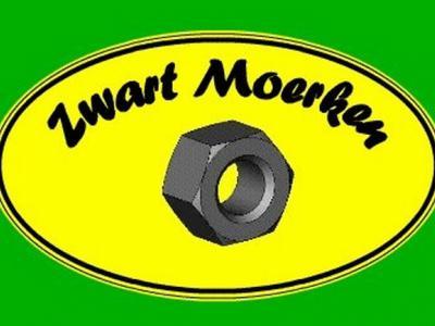 Mooi toepasselijk logo van Buurtvereniging Zwart Moerken uit de gelijknamige buurtschap bij Rijsbergen. In de zin van de naamsverklaring van de buurtschap betekenen de elementen 'zwart' en 'moer' iets anders. Daarover kun je lezen onder het kopje Naam.