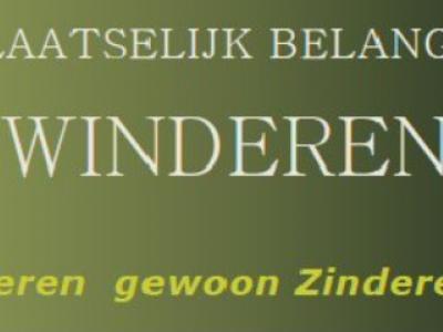 """Voor een klein dorp als Zwinderen is er een rijk verenigingsleven en is er veel te doen. Daarom, en tevens als woordspeling op de plaatsnaam, hanteren ze de slogan: """"Zwinderen gewoon Zinderend!""""."""